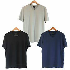 NWT Calvin Klein CK Men Short Sleeve V-Neck Stripes T-Shirt 100% Cotton 3 color