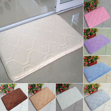 Absorbent Soft Memory Foam Mat Bath Bathroom Rug Shower Non-slip Floor Carpet