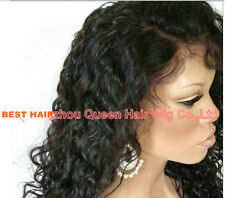 10-24 Malaysian  Lace Front  wig 100   Human  Remy Hair curly 4 colors