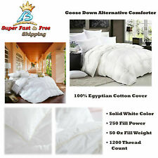 Luxurious Goose Down Alternative Comforter 1200 Thread Count 100% Cotton Cover