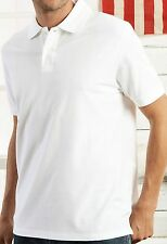 MENS WHITE PLAIN PURE COTTON POLO SHIRT FROM MARKS AND SPENCER SIZES S-XXL BNWT