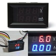 Voltometro A Pannello DC 0-100V 0-200V LED Digital Display Panel Voltmeter Auto