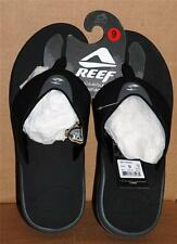 Reef Fanning Black Ice Men Sandals Sizes 8 9 10 11 12 Bottle Opener New