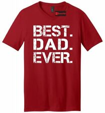 Best. Dad. Ever. Mens V-Neck T Shirt Cute Father's Day Gift Shirt