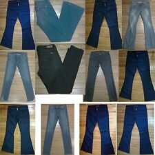 NWOT Gray Blue Black DIVINE RIGHTS OF DENIM Skinny Wide Leg Low Rise Jeans!