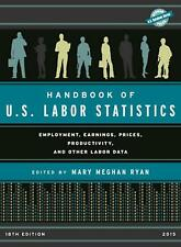 NEW Handbook of U.s. Labor Statistics 2015 by Hardcover Book (English) Free Ship
