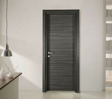Palissandro Blu Interior door with Hinges and Modern Italian handle