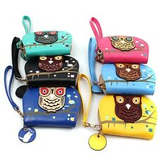 Hot Women Owl Clutch Money Clip Change Bags Checkbook Purse Wallets 6 Colors JJ