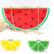 Designer Fruit Shaped Party Handbag Evening Clutch Chain Shoulder Bags Purse New