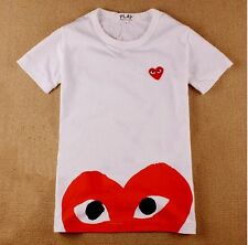 COMME Des GARCONS CDG PLAY RED HEART EYES MENS WOMENS SHORT SLEEVE T-SHIRT TEE