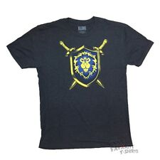 World Of Warcraft Alliance Coat Of Arms Crest Gamer Licensed Adult Shirt S-3XL