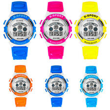 Waterproof Boys Girls Digital Watches Alarm Date Quartz Wristwatches Sport Watch