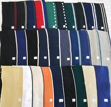 """COLLARS CUFFS 3 per 100% cotton double knit finished edges approx 16""""x4"""" stripes"""