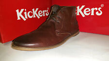 Kickers River 2 Laced Ankel Boots Brown Leather Mens Shoes size US 7.5-12