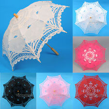 Handmade Kids Lace Bridal Umbrella Sun Parasol Wedding Party Photo Decoration