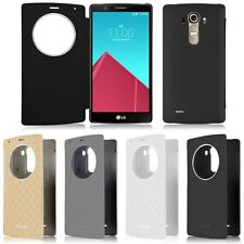 Ultra-thin Quick Circle Window Flip Leather Battery Case Cover Housing For LG G4