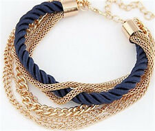 New Fashion Golden Jewelry Hand-woven Multi-layer Bracelets Alloy Chain