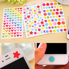 Colourful Hearts lovely  Decorative Stickers DIY Scrapbook Album 6 sheets