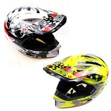 White Yellow Adault Racing Motorcycle Helmet For Dirt Bike ATV Quad S M L XL A2