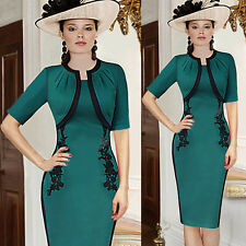 NEW Womens Ladies Elegant Tunic Business Formal Wear To Work Party Pencil Dress