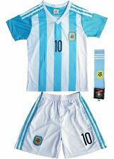 Argentina #10 MESSI Kids Home Soccer Jersey & Shorts Youth Sizes - USA SELLER!
