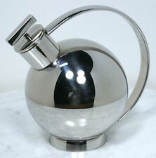 Vintage ALESSI Cocktail Shaker. Stainless Steel, Modern Art Deco Design. ITALY
