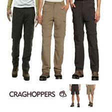 CRAGHOPPERS NOSILIFE CONVERTIBLE MENS TROUSERS PEBBLE or BLACK PEPPER CMJ368