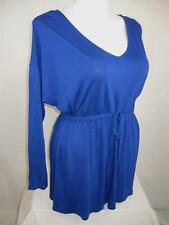 Old Navy Plus Size Long Sleeve Rayon Tunic w/Drawstring Waist in Regal Blue