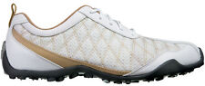 FootJoy Ladies Summer Series Golf Shoes 98847 White/Tan Womens Closeout New