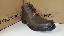 Dockers Kingman Stain Defender Brown Leather Casual Shoes size 7-12