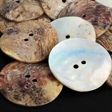 30/100Pcs Neutral Mother of Pearl Round Shell Buttons (8~30mm) Sewing Buttons UK
