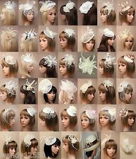 STYLISH FASCINATOR, CREAMS, CHEAPEST ON EBAY, WEDDING, RACES, ASCOT, LOT