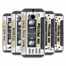 OFFICIAL ONE DIRECTION CASSETTES MIDNIGHT MEMORIES SOFT GEL CASE FOR HTC ONE M8