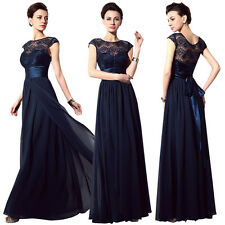 New Cap Sleeve Chiffon Bridesmaid Dress Lace Long Prom Formal Party Gowns