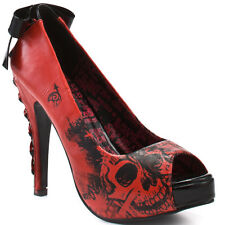 IRON FIST AMERICAN NIGHTMARE  LADIES RED PLATFORMS US SIZE