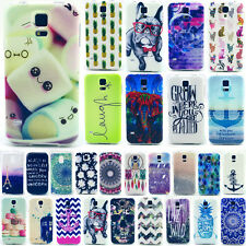 Samsung Galaxy S3 S4 S5 Mini Housse étui coque motif divers silicone case gel