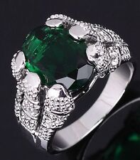 Nobby Jewelry Size 8-11 Luxury Emerald 10KT Gold Filled Engagement Rings For Men
