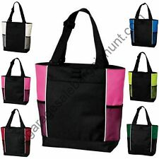 Sturdy Zipper Tote Bag Book Shopper Teacher Nurse Gym Handbag Purse Diaper Gift