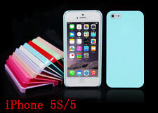New For Apple iPhone 5 5S Pastel TPU Candy Color Hard Case Cover Skin Hot USIX
