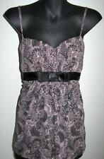 NWOT Ladies Size 14 16 Target Hot Options Printed Sleeveless Top with Black Bow