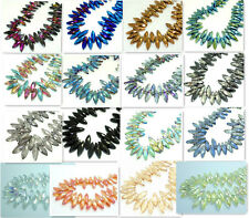 Wholesale 10pcs Royal Facet rhombic crystal glass Loose beads 25*8mm Multicolor