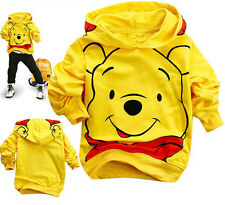 Kids Boys Girls Sweatshirt Dress Winnie the Pooh Cotton Hoodies Unisex Clothes