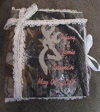 Personalized Camo Camouflage Wedding Bridal Picture Photo Album Bride Groom