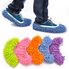 1pcs Multi-Function Chenille Fibre Washable Dust Mop Slippers Cleaning Shoes XU