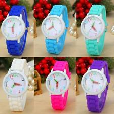 WOMEN GIRL Jelly Gel Silicon STRAP LOVELY WHITE PENCIL POINTER WRIST WATCH HOT