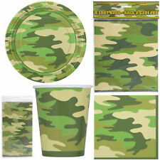New Camouflage Soldier Party Armed Force plates cups Napkin Tableware Decoration