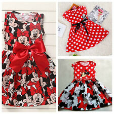 2016 #@new Minnie Mouse Princess Birthday Party Outfit Girls Dresses 3 Colour
