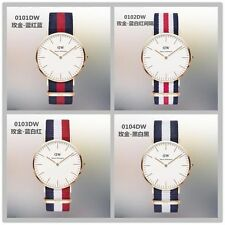 NEW DW Daniel Wellington Casual Nylon Strap Quartz Men's Wristwatch