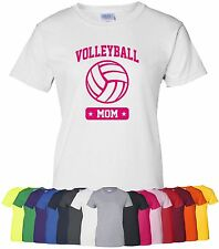 "Personalized ""Volleyball Mom"" Ladies Tee or T-Shirt S-4XL custom sports mother"