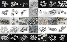 100 Silver Spacer Beads For Jewellery Making Different Styles BUY 2 GET 1 FREE
